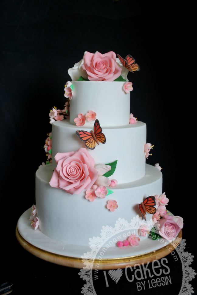 wedding cake penang penang wedding cakes by leesin cherry blossom 23405