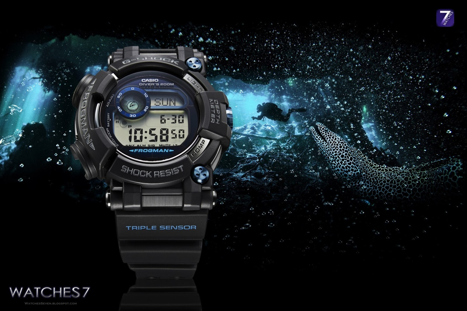 Watches 7: CASIO – G-SHOCK MASTER of G Frogman GWFD1000B-1
