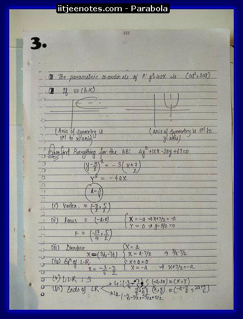 parabola notes3