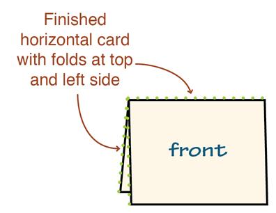 quarter fold card template. pin quarter fold card template on ...