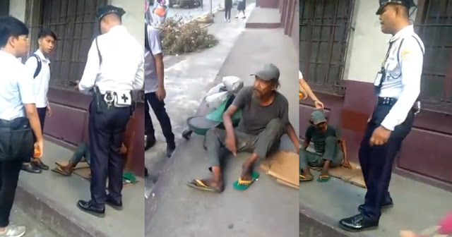 Video of a security guard hitting an old man while forcing him to leave, lambasted by netizens!