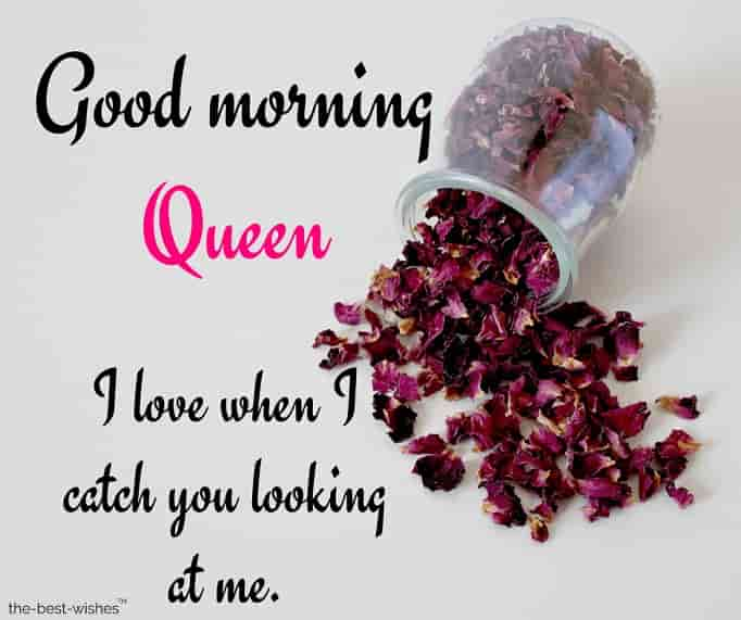 good morning my queen text message