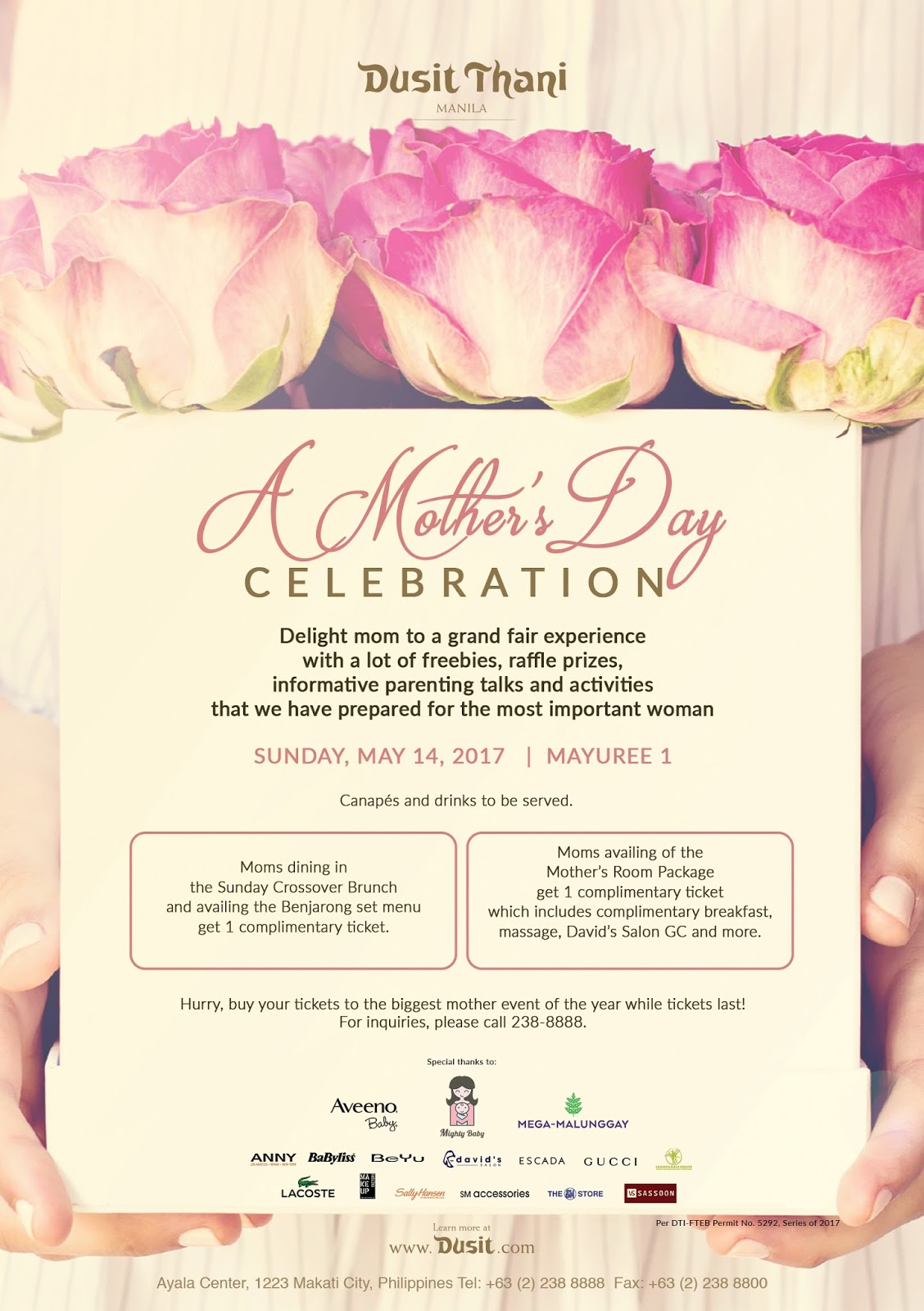 A Special Mother\'s Day Celebration at Dusit Thani Manila
