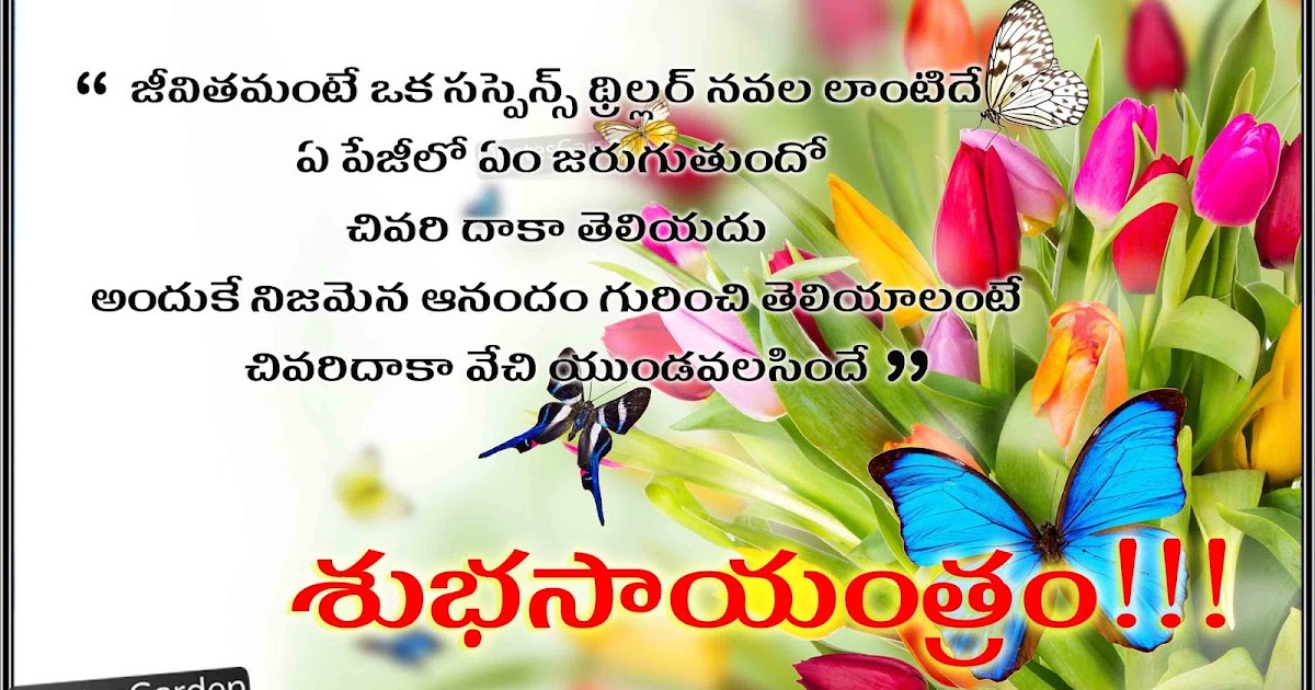Best Thoughts n telugu Good evening quotes for friends ...
