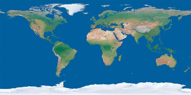 70% da superfície da Terra é coberta por água