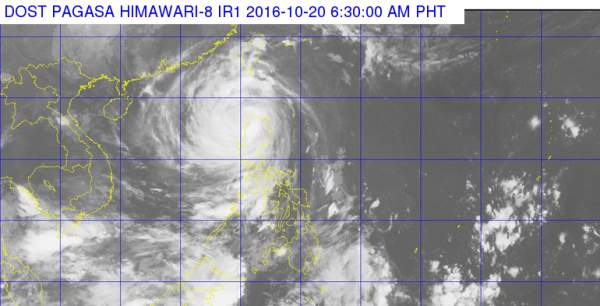 Bagyong Lawin 2016 as of 6:30 AM, October 20