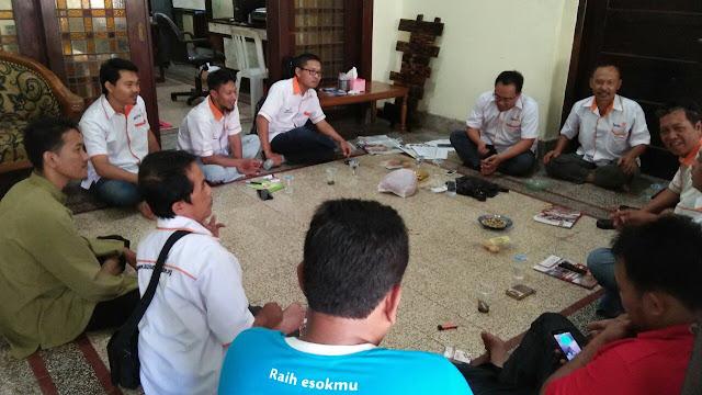 Rapat koordinasi rutin Lazismu se-Jember di bulan Pebruari 2018
