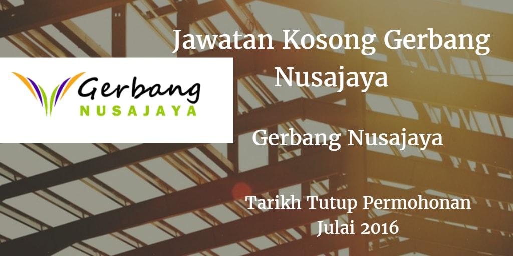 Jawatan Kosong Gerbang Nusajaya Julai 2016