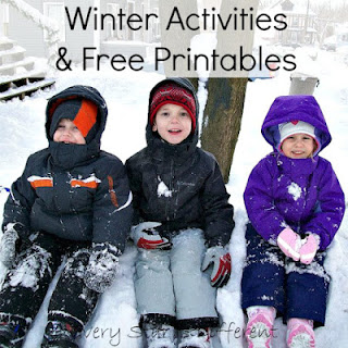 Winter learning activities and free printables for kids.