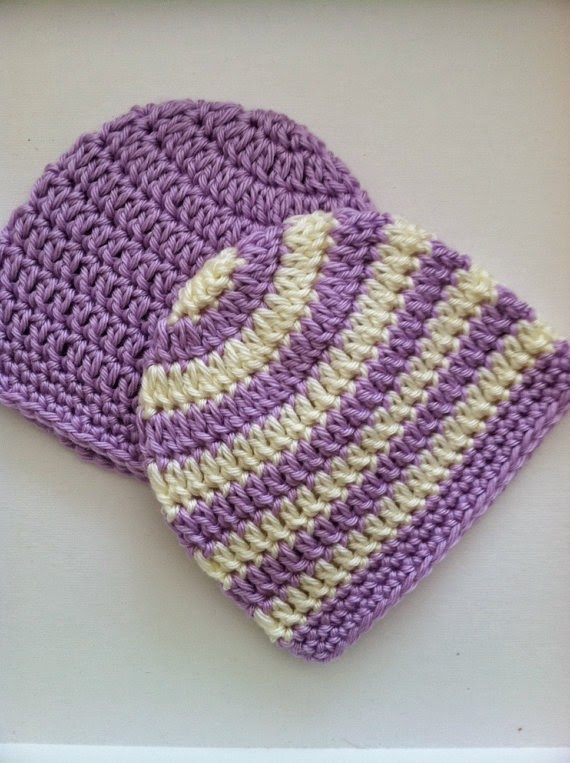 """Lakeview Cottage Kids: New """"Preppy"""" Crochet Beanies in Stripes and ..."""