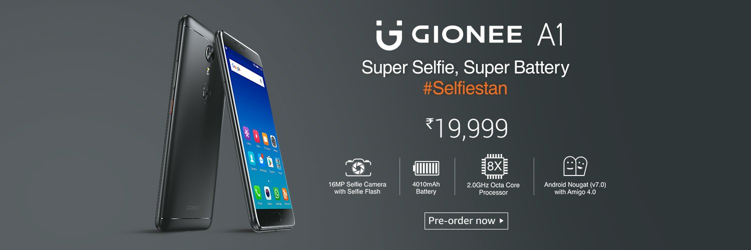 Gionee A1 Price in India, Rs 19,999 on Amazon, Flipkart
