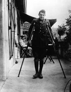 Hemingway recuperating in hospital in Milan