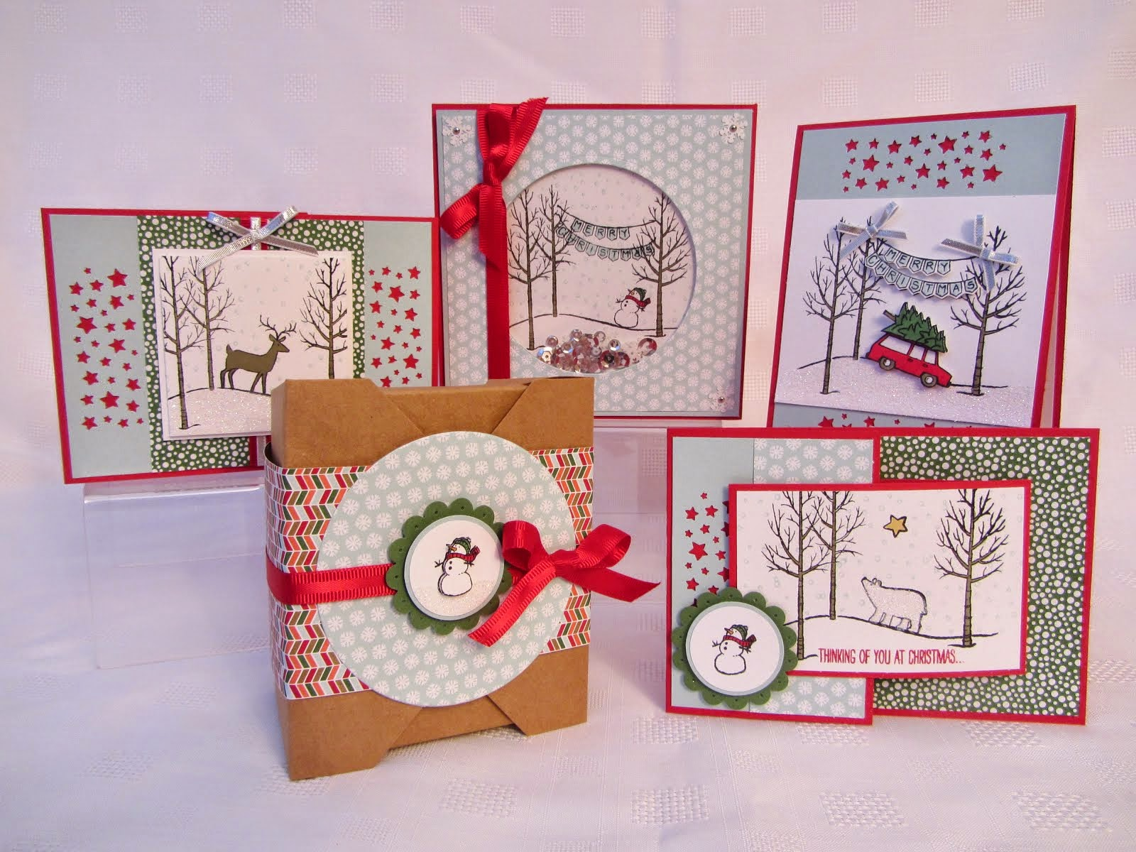 White Christmas Stamp Class