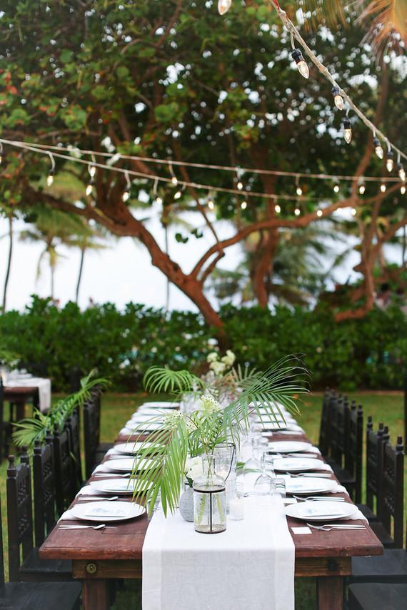 decoracion boda palmeras