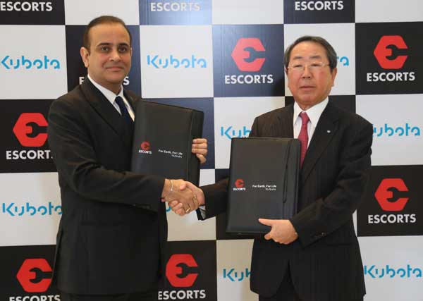 कुबोता और एस्कॉर्ट्स ने विश्व में अग्रणी स्थान हासिल करने के लिए हाथ मिलाया