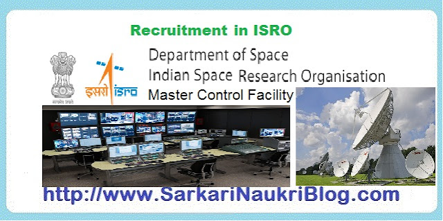 Naukri Vacancy Recruitment ISRO Master Control Facility