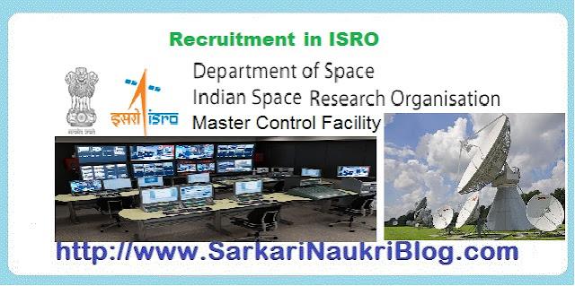 Naukri Vacancy Recruitment ISRO Master Control Facility
