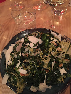 kale salad with Sciala Vermentino di Gallura