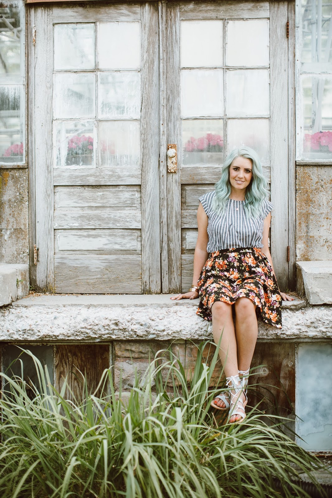 Mint Hair, Utah Fashion Blogger, Mixing Prints