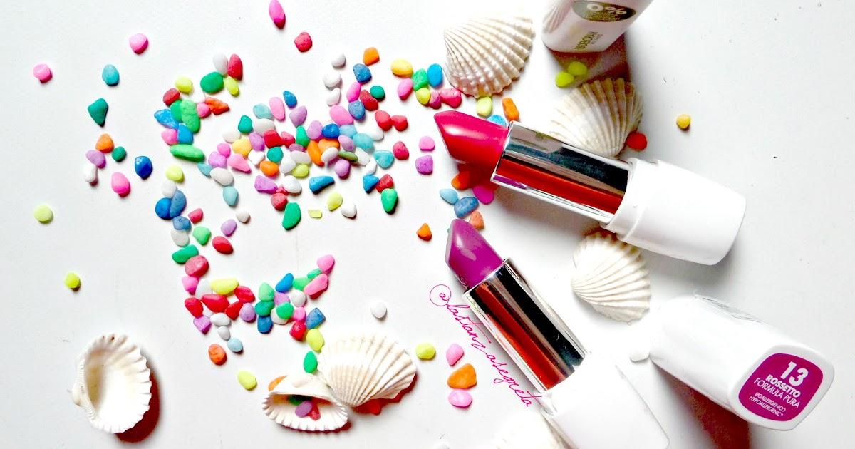 [postazione makeup] ... della Collezione Puro 0% di Deborah Milano & dei lipsticks n. 05 e n. 13 { review e swatches }