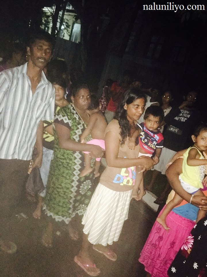 People at flood affected areas