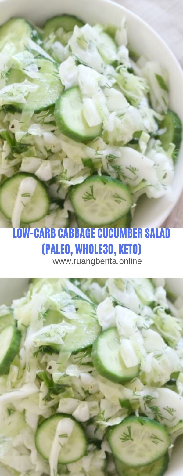 LOW CARB CABBAGE & CUCUMBER SALAD