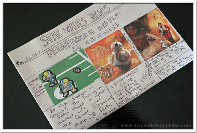 Make your own newspaper kits for kids - a fun learning activity  |  www.3Garnets2Sapphires.com
