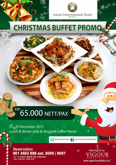 Asean International Hotel Medan - Christmas Buffet Promo