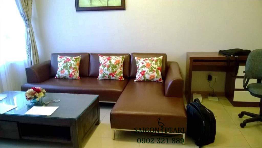 Topaz 1 Saigon Pearl cho thuê căn hộ 2 phòng ngủ - sofa
