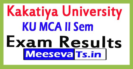 Kakatiya University MCA II Semester Results 2017