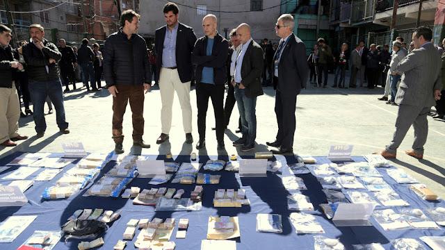 Rodríguez Larreta y Bullrich presentaron los resultados de un megaoperativo policial en el Barrio 20