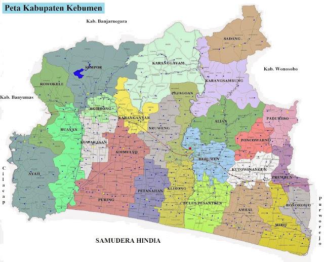 Peta Kabupaten Kebumen