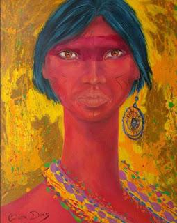 Índia - Pintura de Cícera Dias