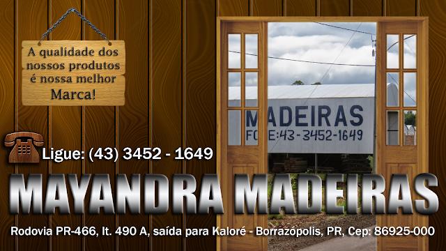 Resultado de imagem para MAYANDRA MADEIRAS