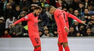 باريس سان جيرمان يحقق فوز كاسح خارج ارضه على فريق سانت إيتيان في الدوري الفرنسي