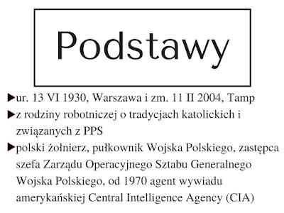 agent CIA, Miecz i Pług, PPS, żołnierz, Polish Viking, Jack Strong, Mewa