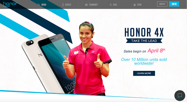 Honor – the leading e-smartphone brand announces ace badminton player Saina Nehwal as the new brand ambassador
