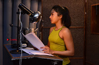 Actress Catherine Tresa Pos during Self Dubbing for Gautham Nanda Movie  0040.JPG