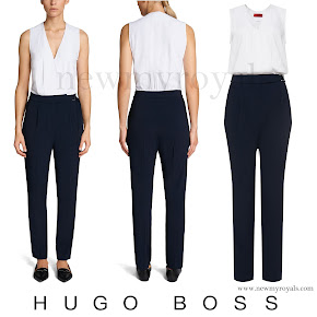 Queen Letizia wears HUGO BOSS Kasha Jumpsuit