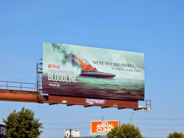 Bloodline burning boat billboard