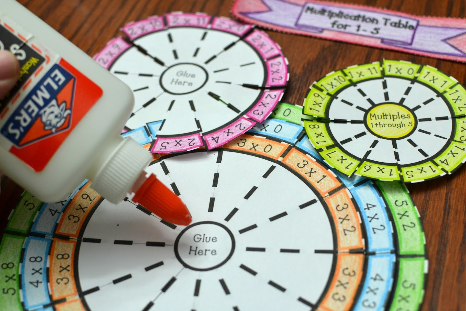 Multiplication Table Wheel Foldable Times Table Numbers