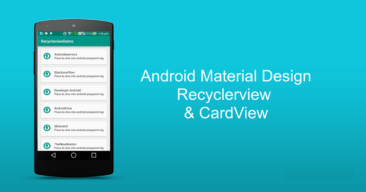 Android Recyclerview Example Tutorial Recyclerview And