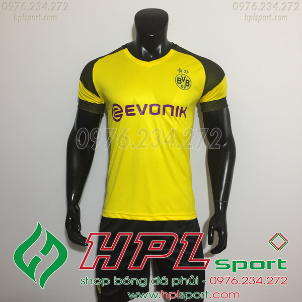 Áo đá bóng câu lạc bộ Dortmund vàng 2019