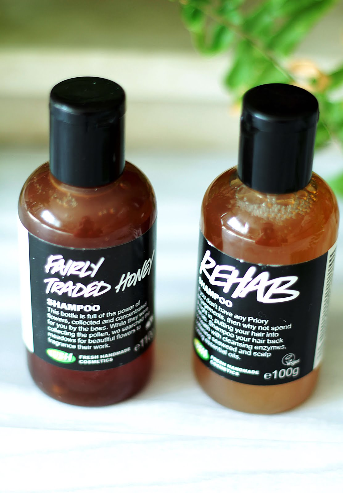 Lush hair care summer haul fairly traded honey and rehab