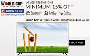 (Last day) LG LED Television: Min.15% to 43% Off+ Extra 10% Off on EMI With HDFC Credit Cards (Valid till 12th Feb'15)