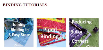 some of the Binding Tutorials on the Tutorials Page at QuiltFabrication