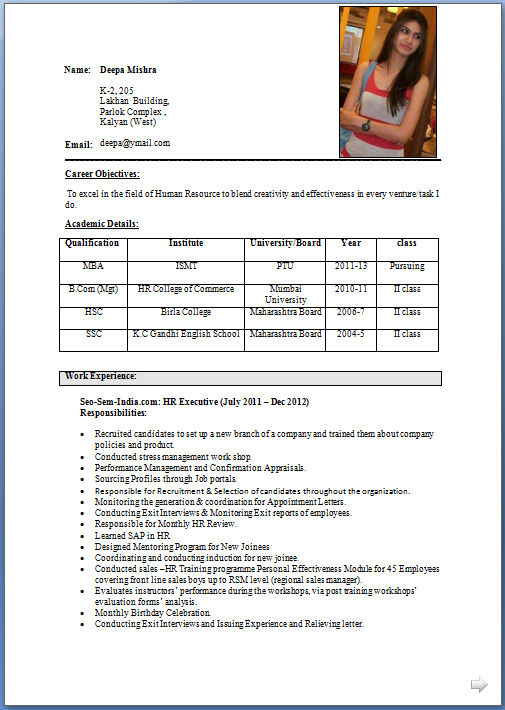 career objective for experienced resume