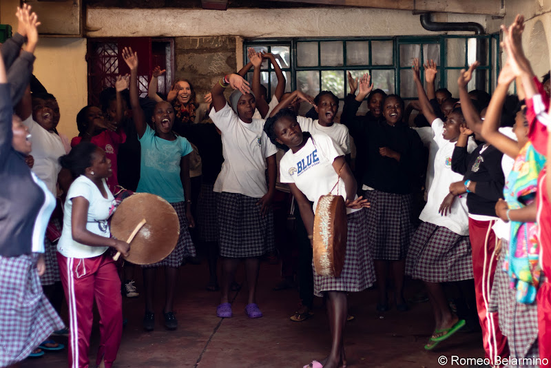 Chapel at Uhuru Academy Volunteering in Kenya with Freedom Global