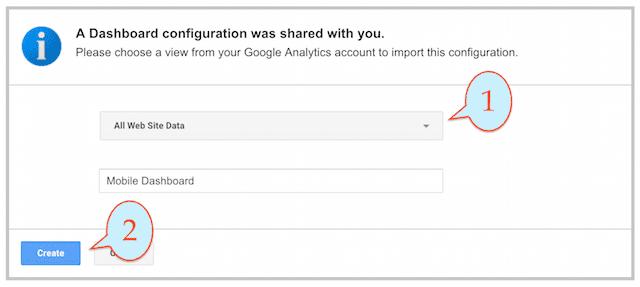 Google Analytics Private Dashboards