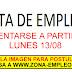 EMPLEOS PARA PRESENTARSE A PARTIR DEL 13/08